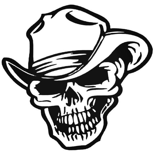 Cowboy Skull Style 2 Decal Sticker