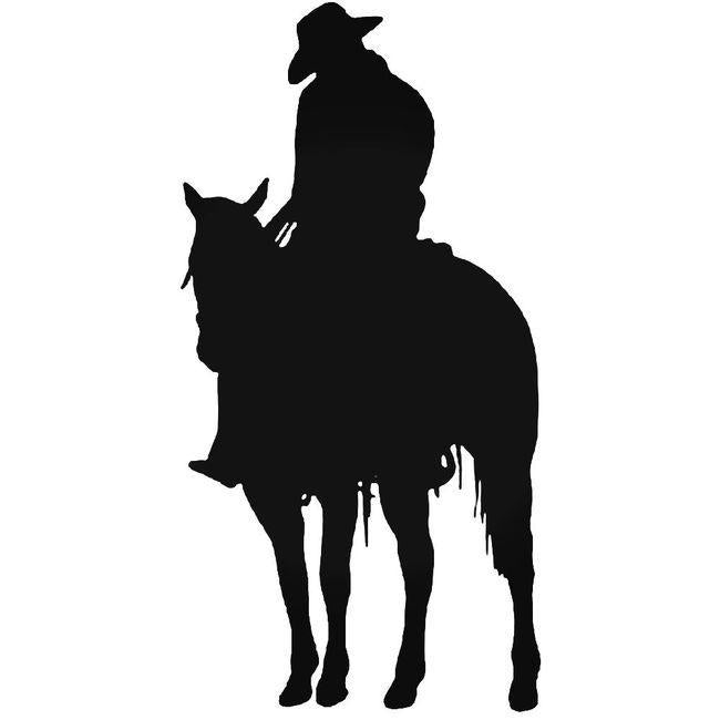 Cowboy Truck Decal Sticker