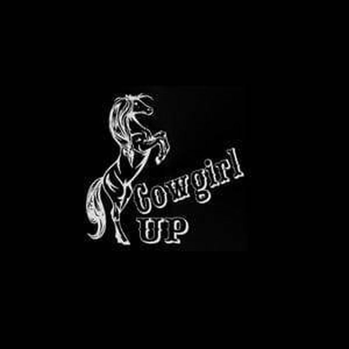 Cowgirl Up A9 Truck Decal Sticker
