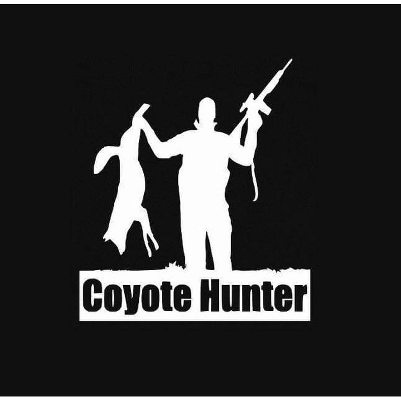 Coyote Hunting Window Decal Sticker