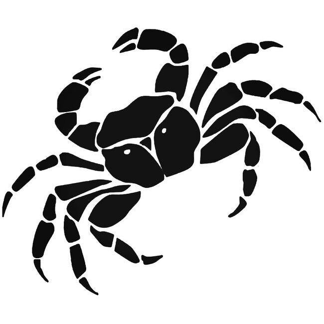 Crab Seafood 3 Decal Sticker