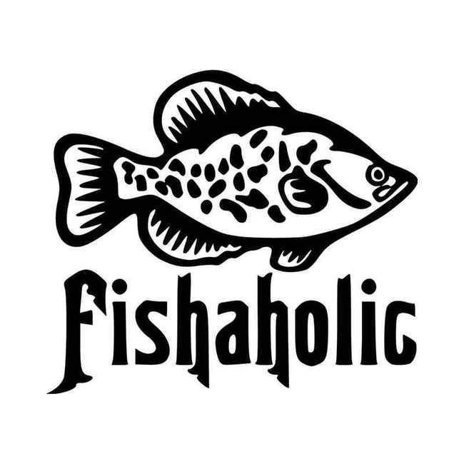 Crappie Fishaholic Decal Sticker
