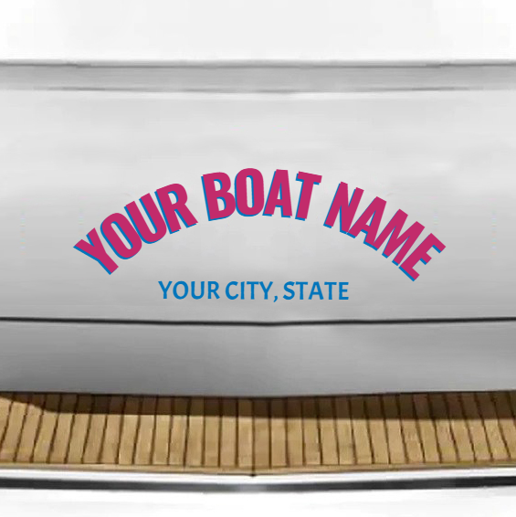 Custom Boat Lettering - Vinyl Name Decals