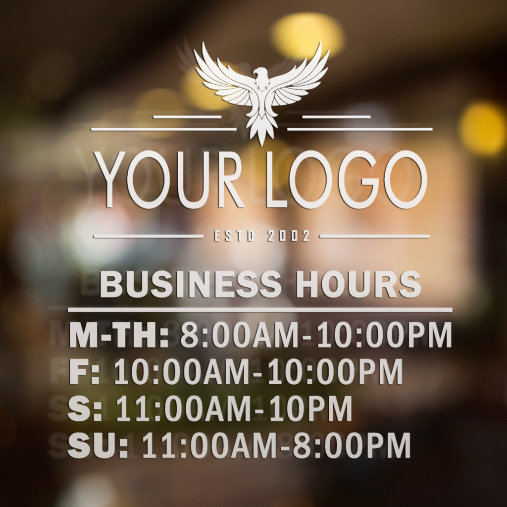 Vinyl Window Lettering Decal - Open Hours - #7003-StickerSquad