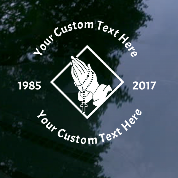 Custom In Memory of Vinyl Decal