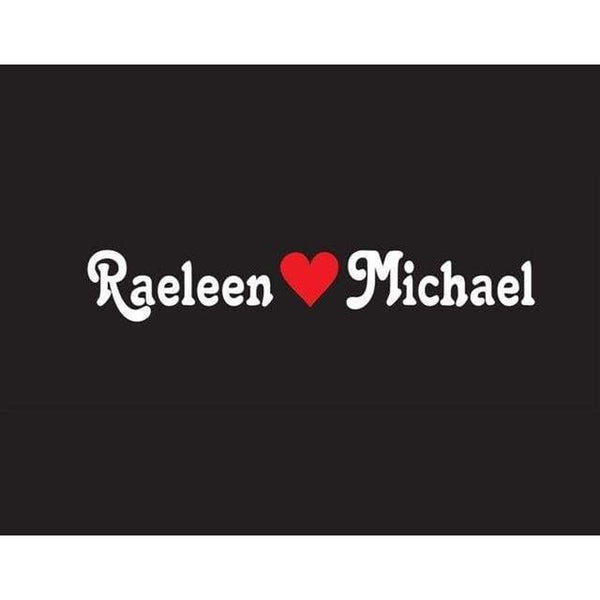 Custom Name with heart Window Decal Sticker