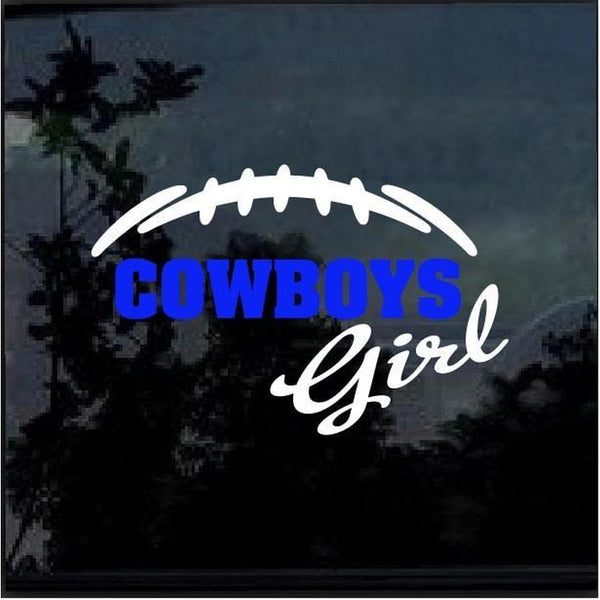 Dallas Cowboys Girl Window Decal Sticker