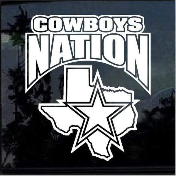 Dallas Cowboys Nation Window Decal Sticker