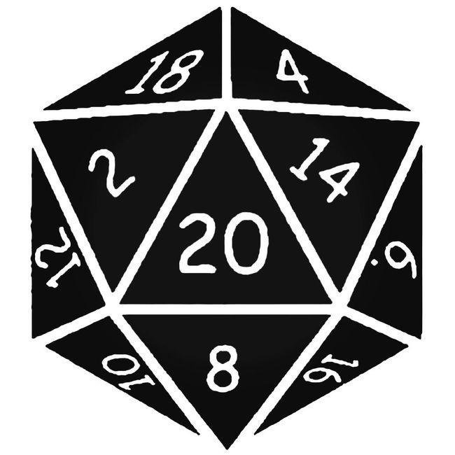 Dampd Dungeons And Dragons Dice Decal Sticker