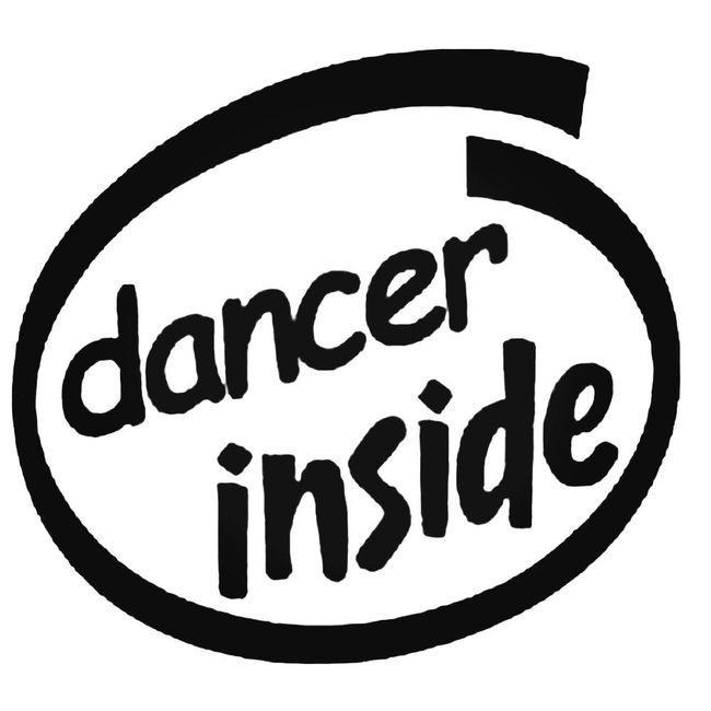 Dancer Inside Decal Sticker