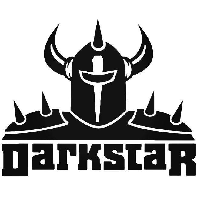 Darkstar Black Logo Decal Sticker