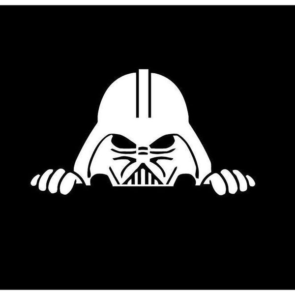 Darth Vader Peeking Window Decal Sticker