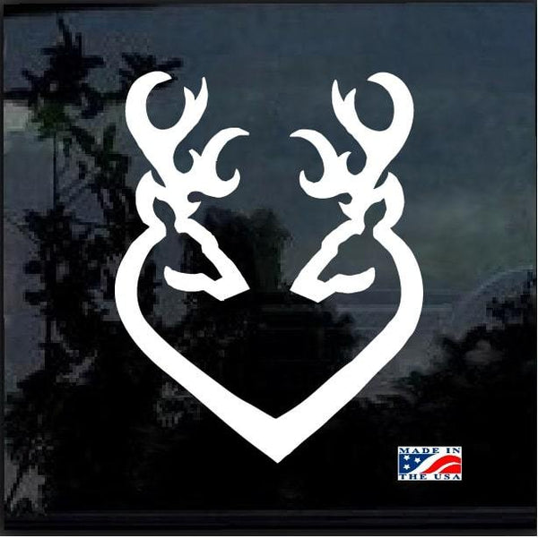 Deer heart buck doe Hunting Window Decal Sticker
