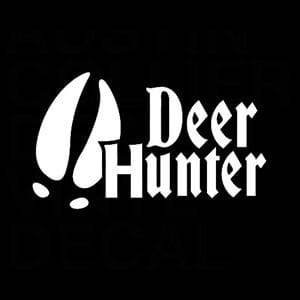 Deer Hunter Hoof Hunting Window Decal Sticker