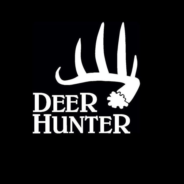 Deer Hunter Shed Hunting Window Decal Sticker