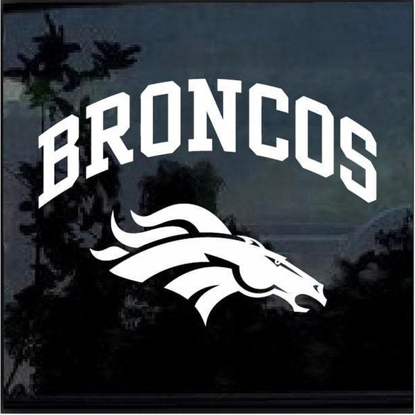 Denver Broncos Window Decal Sticker