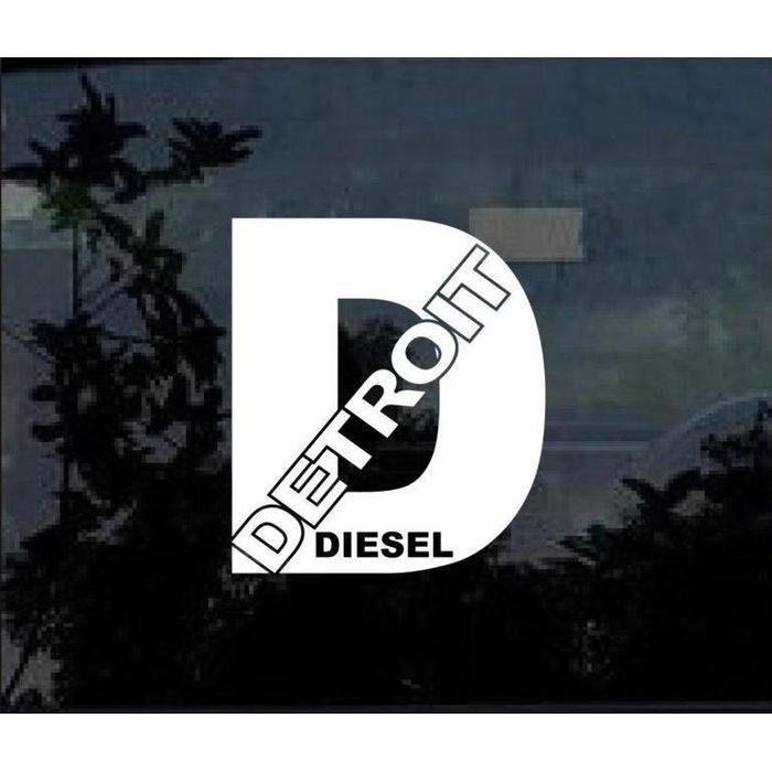 Detroit Diesel Truck Decal Sticker