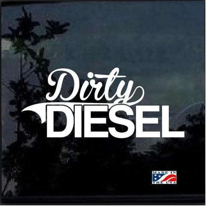 Dirty Diesel a4 Truck Decal Sticker