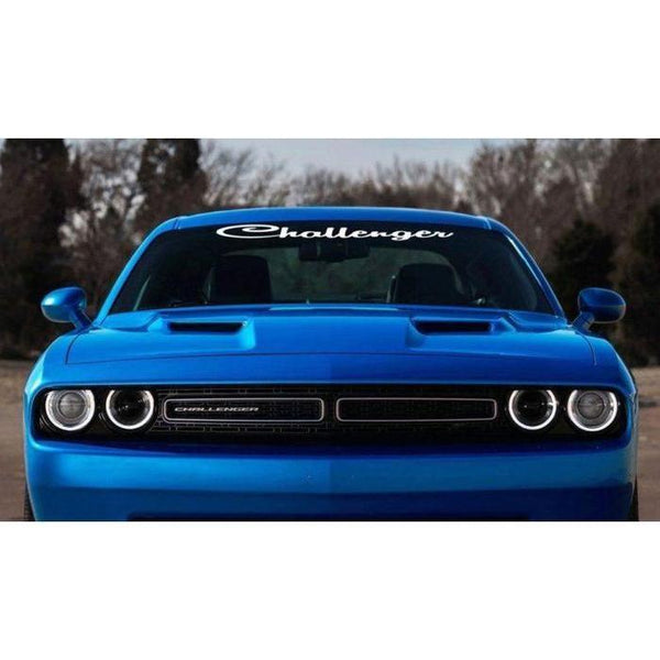 Dodge Challenger Script Windshield Banner Decal Sticker