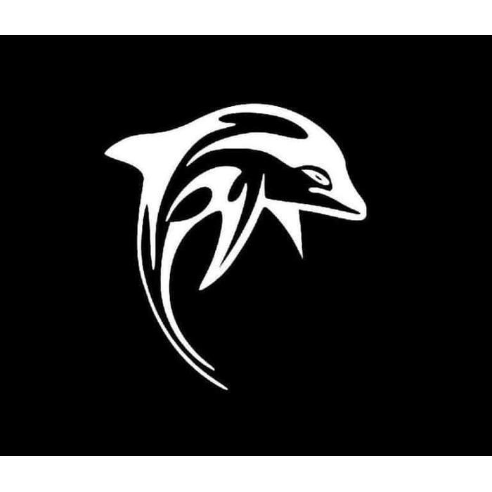 Dolphin Sticker – Dolphin tribal Decal
