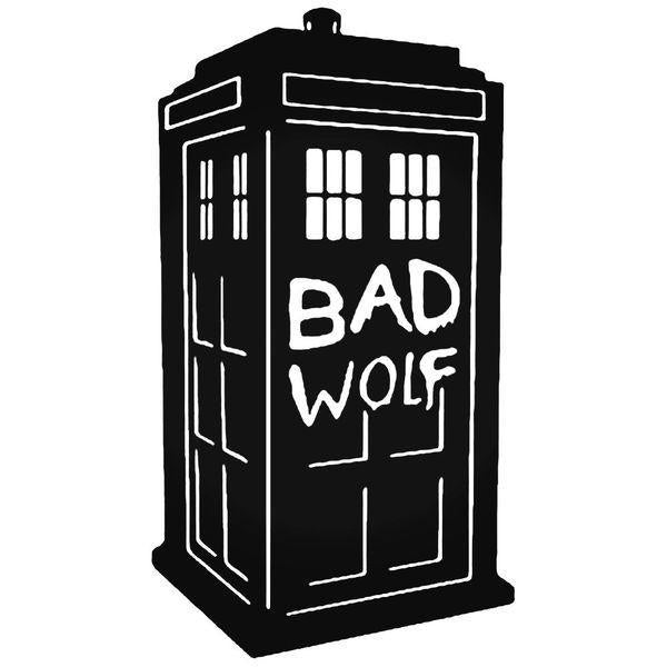 Dr. Who Tardis Bad Wolf Decal Sticker