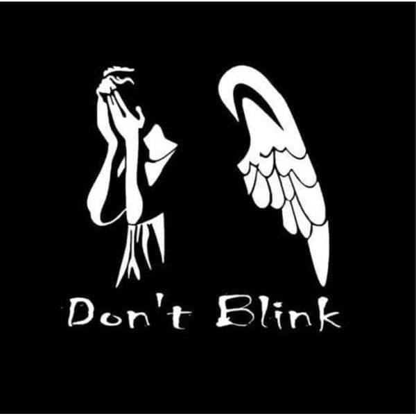 Dr Who Weeping angel Don't Blink Window Decal Sticker