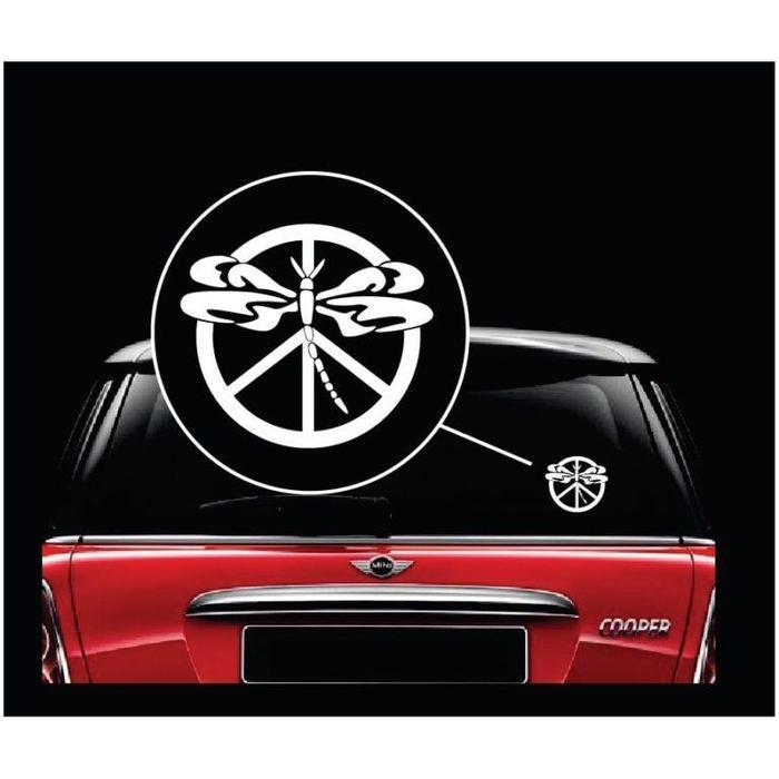 Dragon Fly Peace Window Decal Sticker