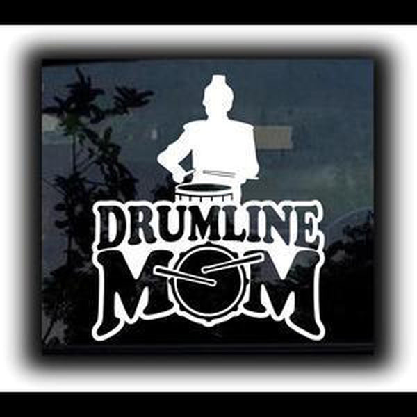 Drumline Mom Window Decal Sticker