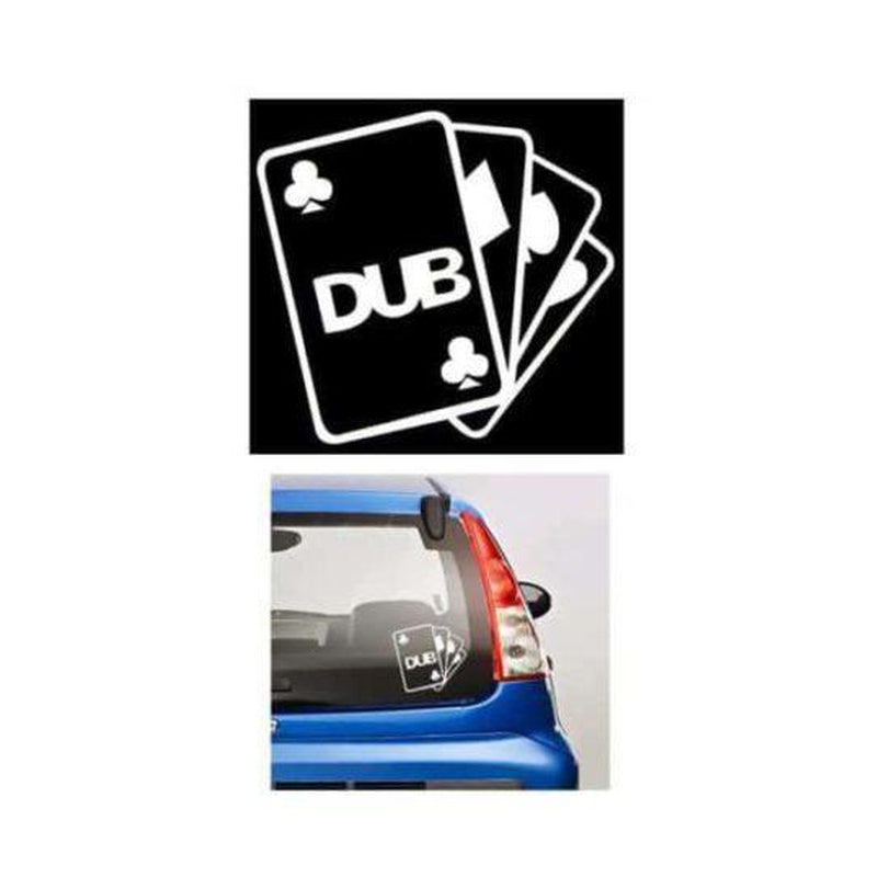 Dub Club Aces JDM Car Window Decal Stickers