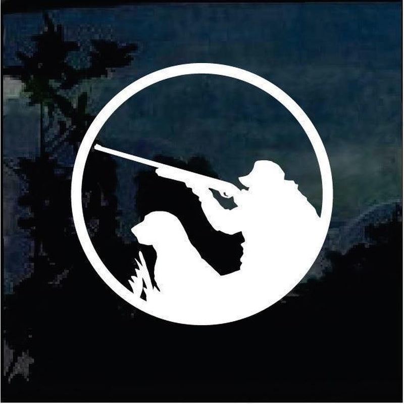 Ducks and Dogs Hunting II Hunting Window Decal Sticker