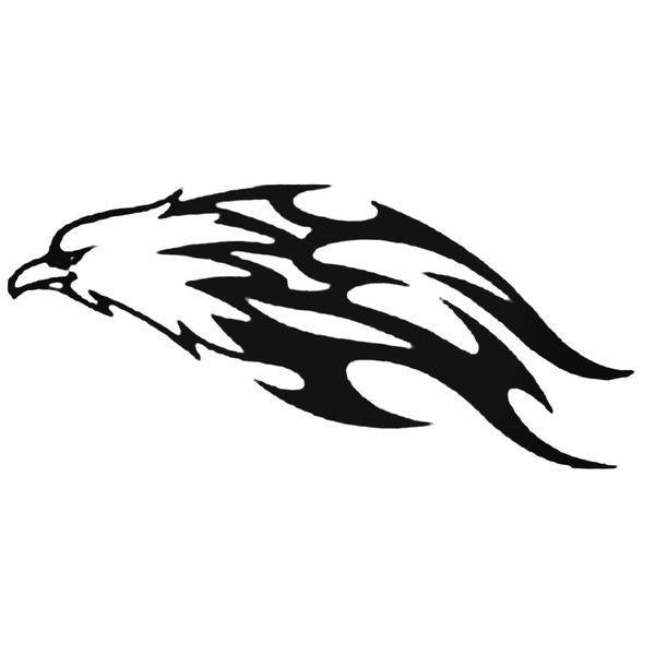 Eagle Flaming Animal Die Cut Decal Sticker