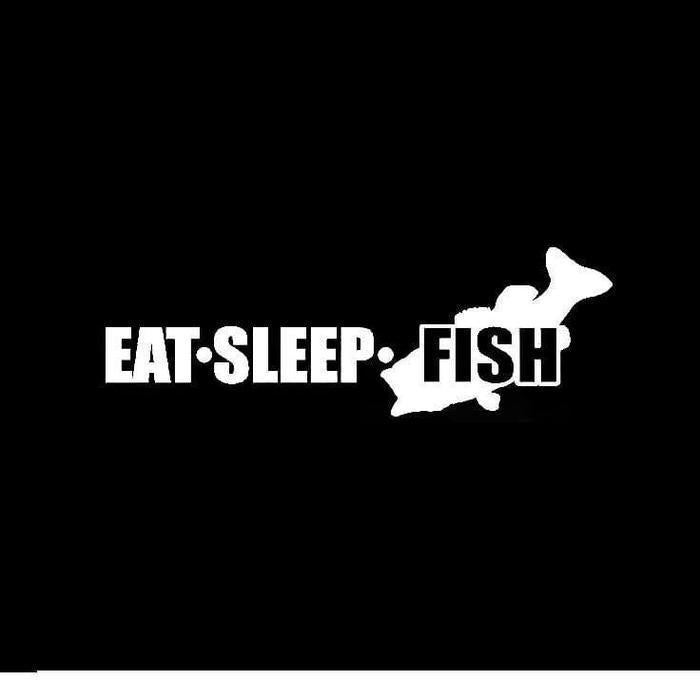 Eat Sleep Fish a1 Fishing Decal Stickers