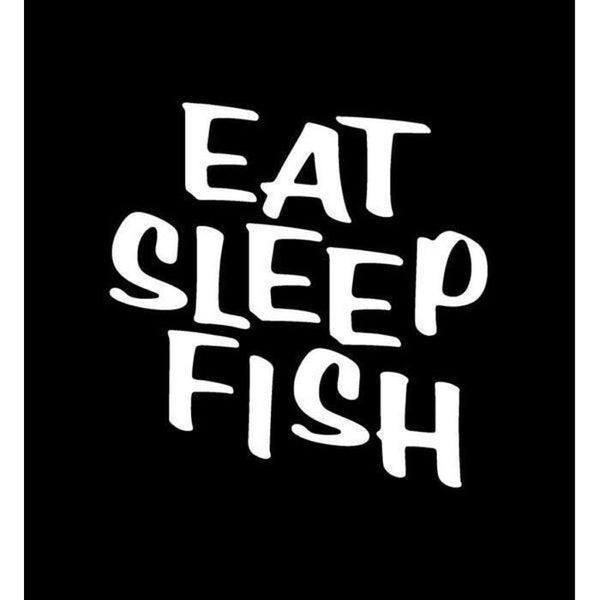 Eat sleep Fish Fishing Decal Stickers