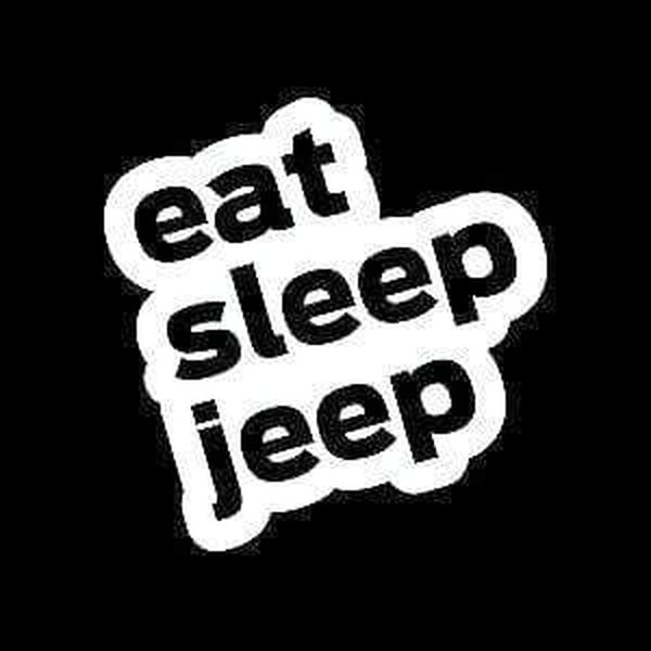 Eat Sleep Jeep Decal Stickers