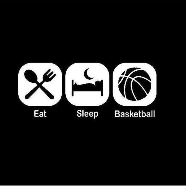 Eat Sleep Play Basketball Window Decal Sticker