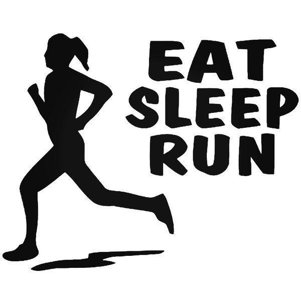 Eat Sleep Run Marathon Runner Decal Sticker