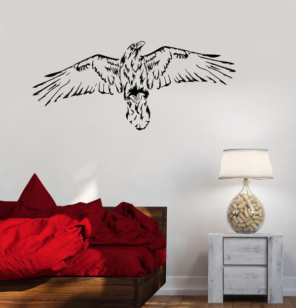 Wall Decal Bird Hawk Eagle Wings Flight Vinyl Sticker (ed1172)