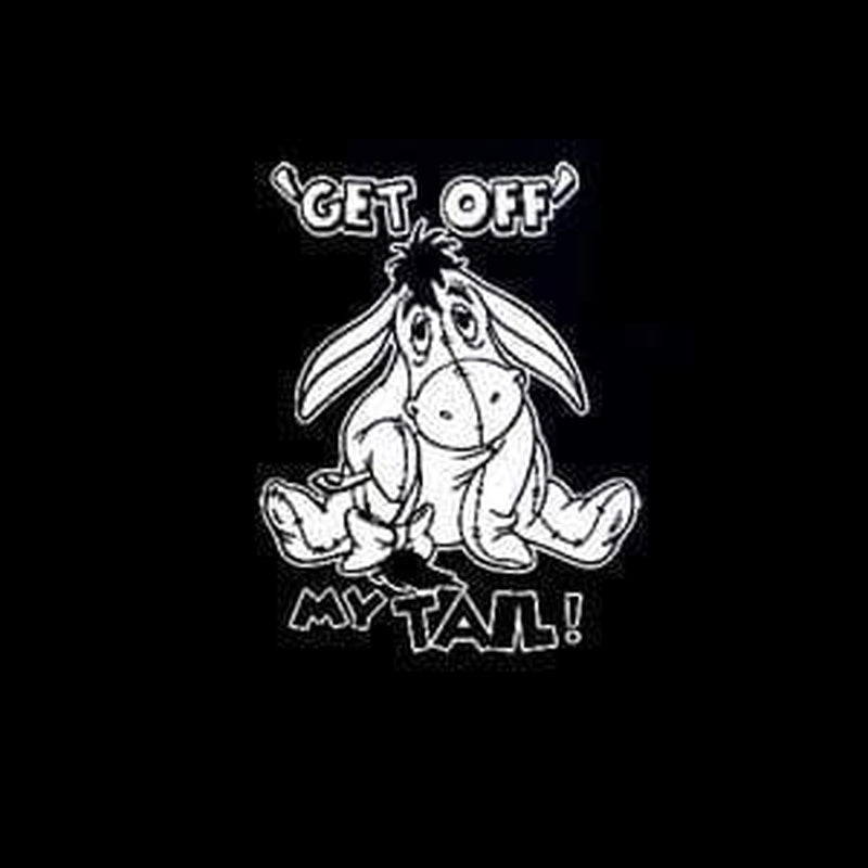 Eeyore Get Off Tail Window Decal Sticker