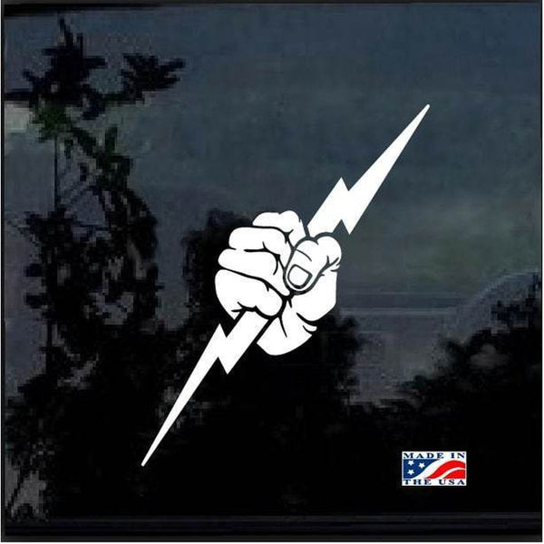 Electrician lightning bolt Window Decal Sticker