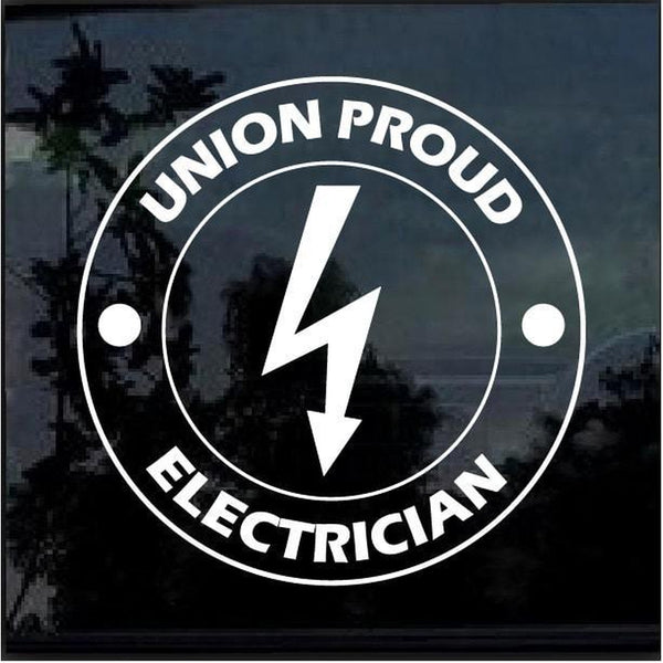 Electrician Sticker – Union Proud Electrician Decal