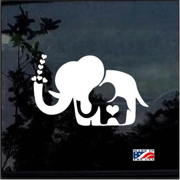 Elephant Decal – Mom and Baby Elephant Sticker