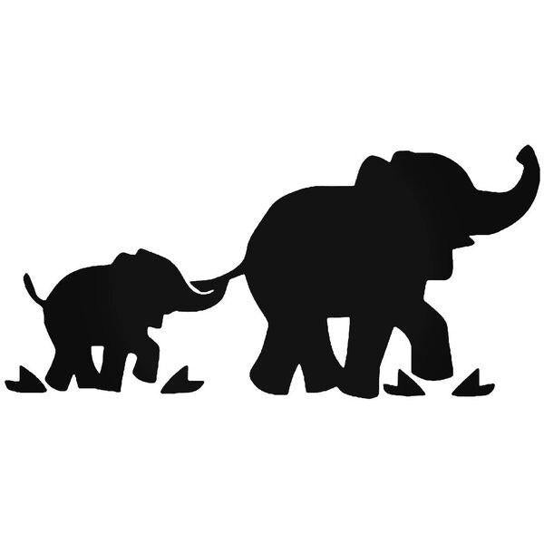 Elephant Family Decal Sticker