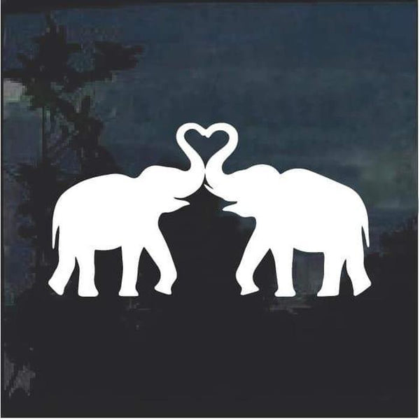 Elephant Silhouette Window Decal Sticker