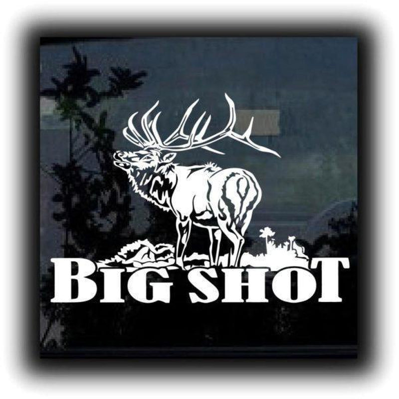 Elk s – Big Shot Elk Hunting Window Decal Sticker