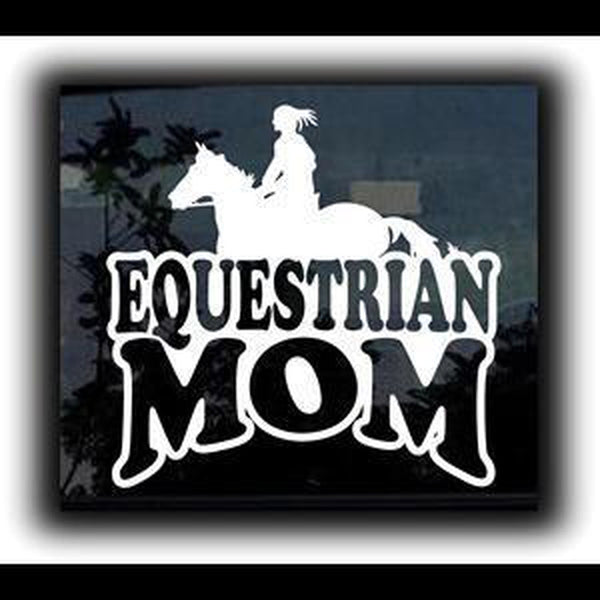 Equestrian Mom Girl Window Decal Sticker
