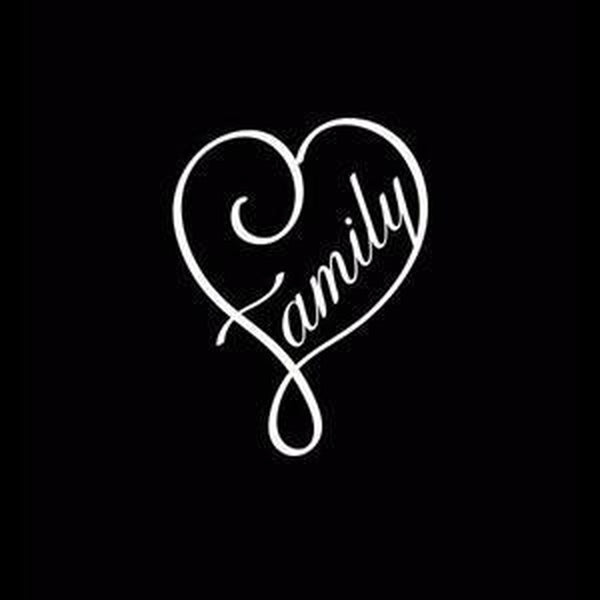 Family Heart Window Decal Sticker