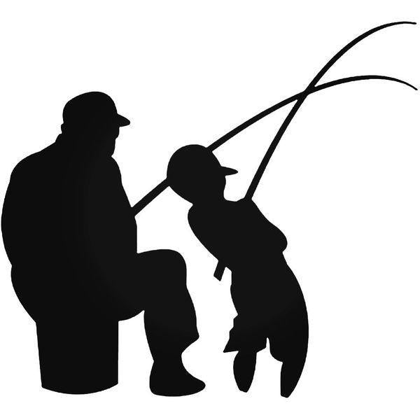 Father Son Fishing Sportsman Decal Sticker