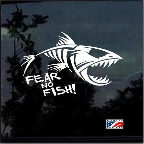 Fear No Fish Fishing Decal Stickers