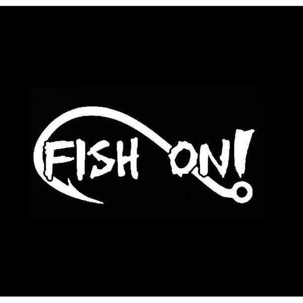 Fish on hook a3 Fishing Decal Stickers