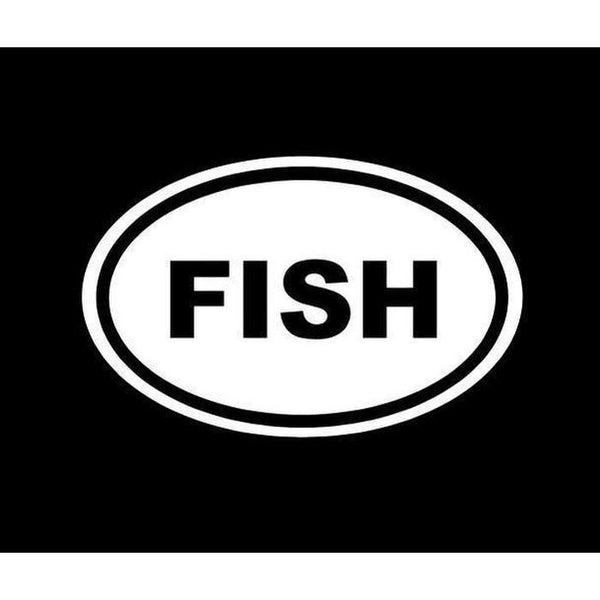 Fish Oval Fishing Decal Stickers